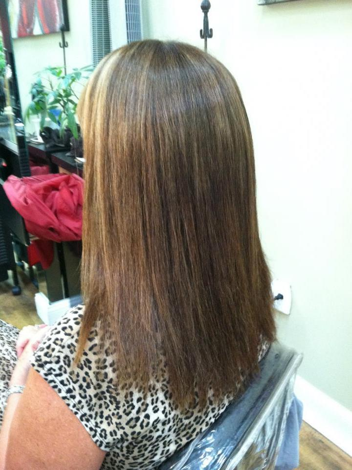 Brazilian Blowout Smoothing Treatment Before Salon 5200 Hilton Head