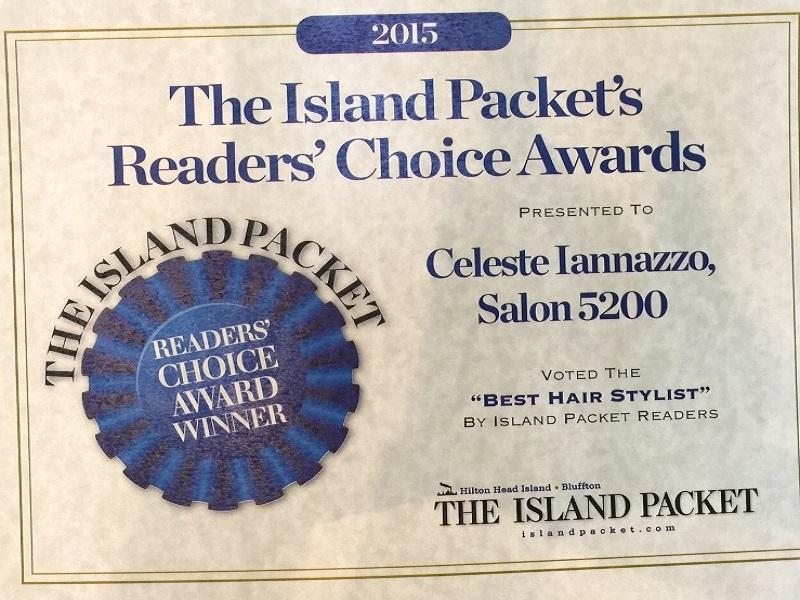 Celeste Iannazzo Salon 5200 Best Hair Stylist Readers Choice Award