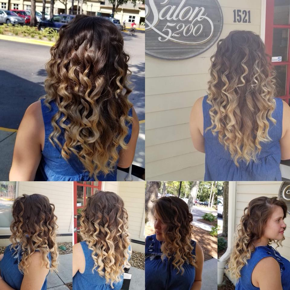 Ombre color by Gabby Hernandez Salon 5200 Hilton Head Island