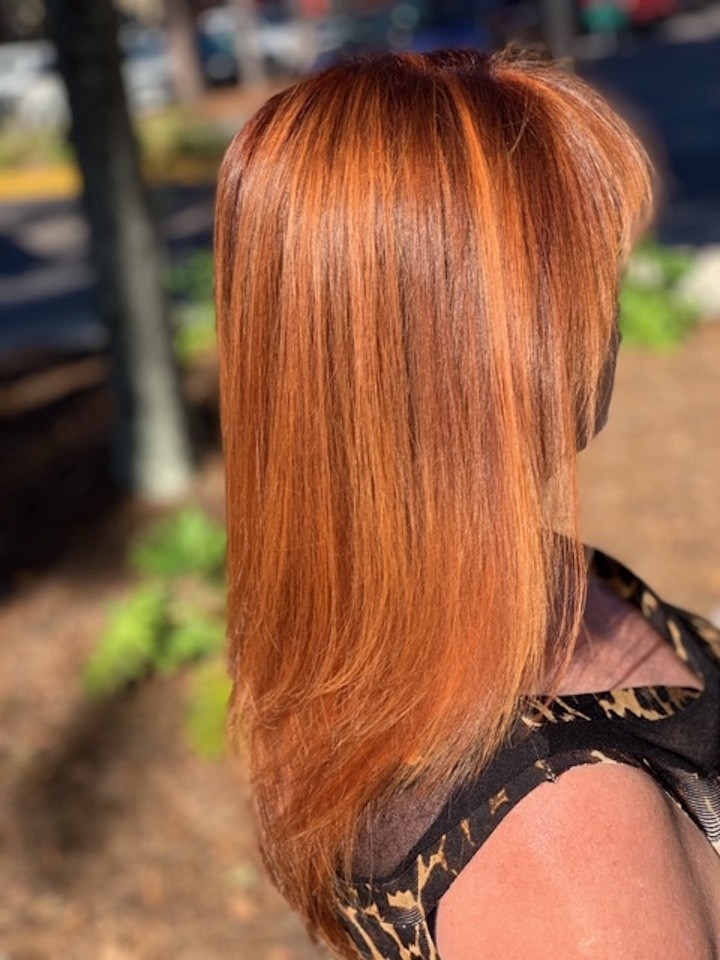 Balayage, Brazilian Blowout, and root color by Emehlia Jimenez